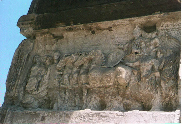 The Triumphal Procession of Titus, with captive Jews in the lead.